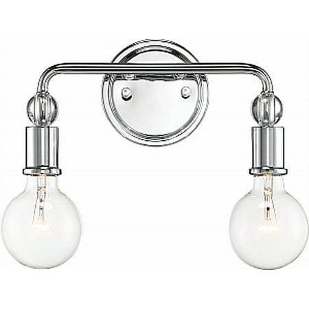 - NUVO Lighting Bounce 2 Light Polished Nickel Vanity Light Fixture