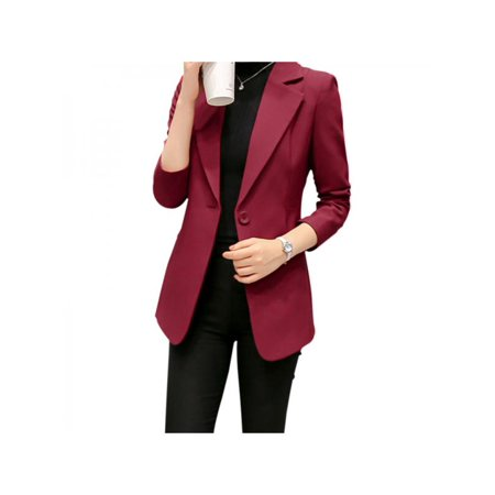 Lavaport Company Womens Casual Work Office Blazer Jacket with One