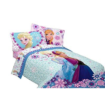disney frozen warm heart microfiber comforter, 72 x 86/twin/full