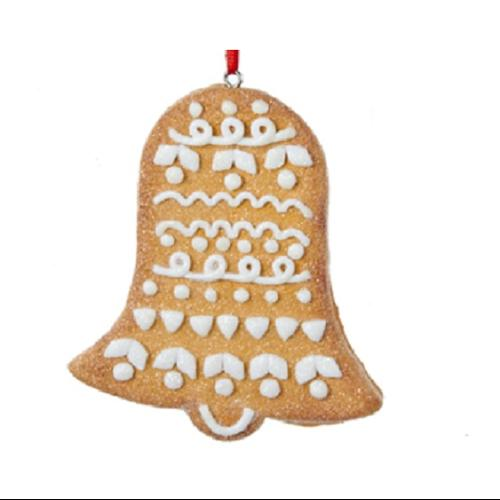 """3.5"""" Gingerbread Christmas Bell Cookie Decorative Christmas Ornament"""