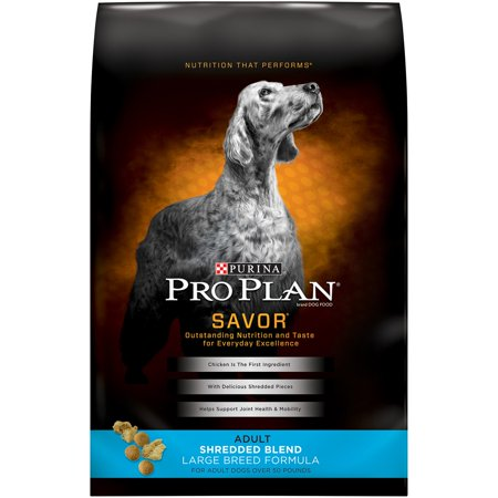 Purina Pro Plan Savor Large Breed Shredded Blend Large Breed Formula Dry Dog Food, 34 lb