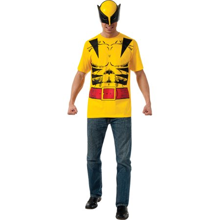 Marvel Comics X-Men Wolverine T-Shirt Kit Men's Adult Halloween Costume (Xmen Costumes)