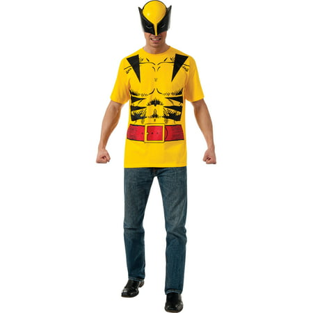 Marvel Comics X-Men Wolverine T-Shirt Kit Men's Adult Halloween Costume - X Man Costume
