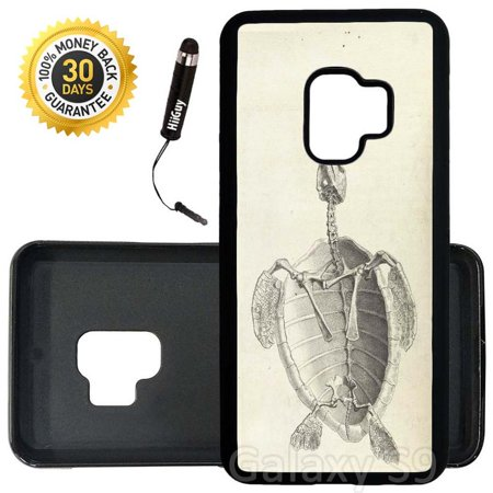 - Custom Galaxy S9 Case (Skeleton Study Sea Turtle) Edge-to-Edge Rubber Black Cover Ultra Slim | Lightweight | Includes Stylus Pen by Innosub