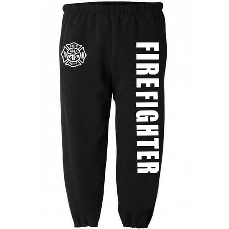 (Firefighter decal sweatpants for men work sweats clothing gear)