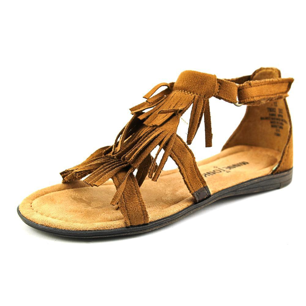 Minnetonka Maya Youth Open Toe Synthetic Brown Gladiator Sandal by Minnetonka