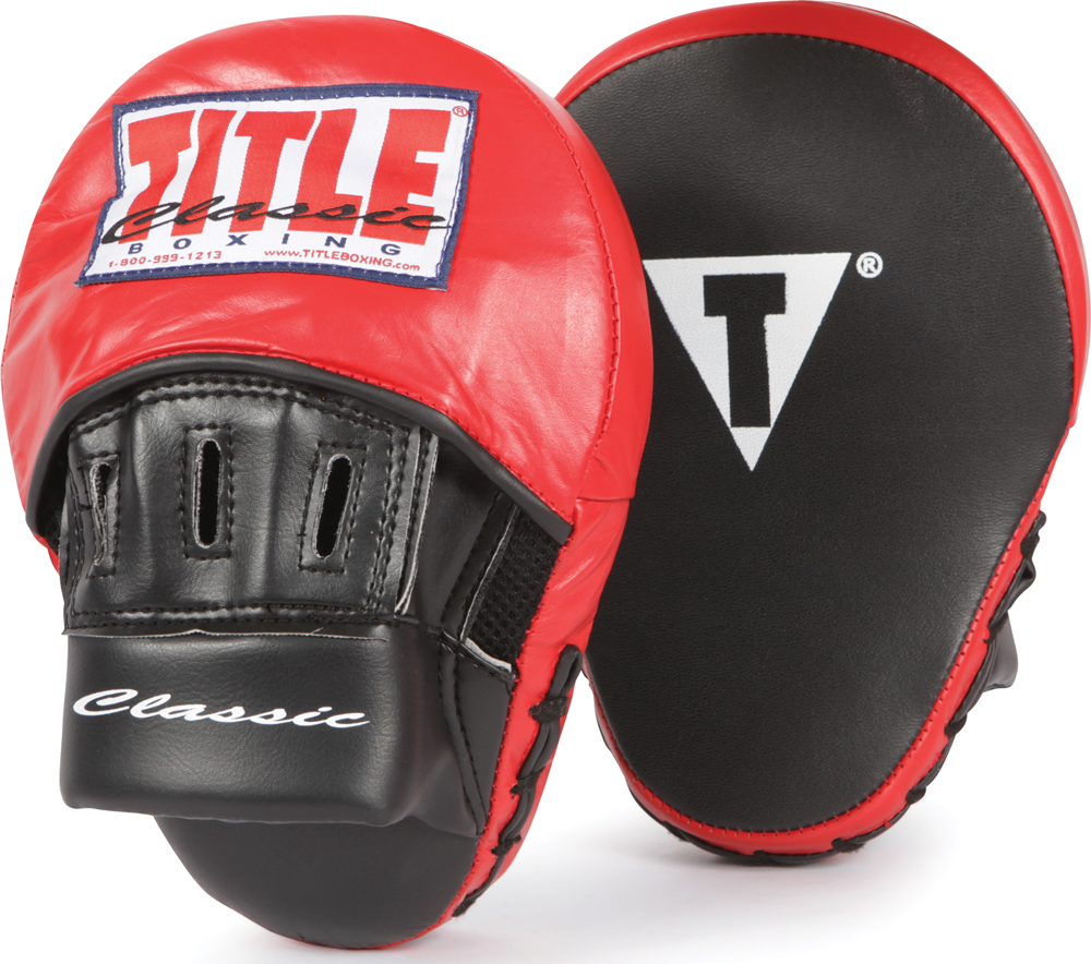 Title Classic Aero Boxing Punch Mitts Black Red by Title Boxing