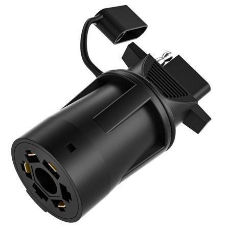 4 Way Flat Plug - Kohree Heavy Duty 7 Way to 4 Way Flat Blade Trailer Adapter Plug with Secure Cap Weatherproof