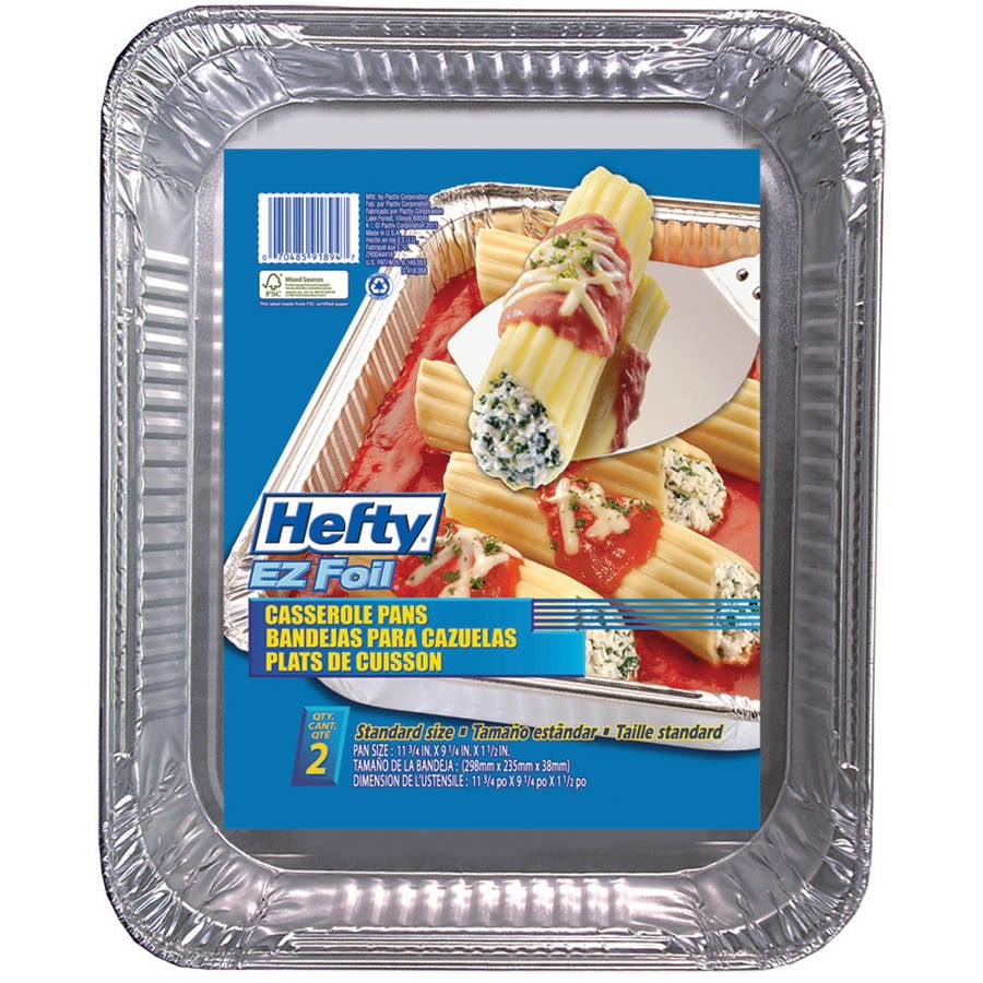Hefty EZ Foil Rectangular Casserole Pans, 2-Pack