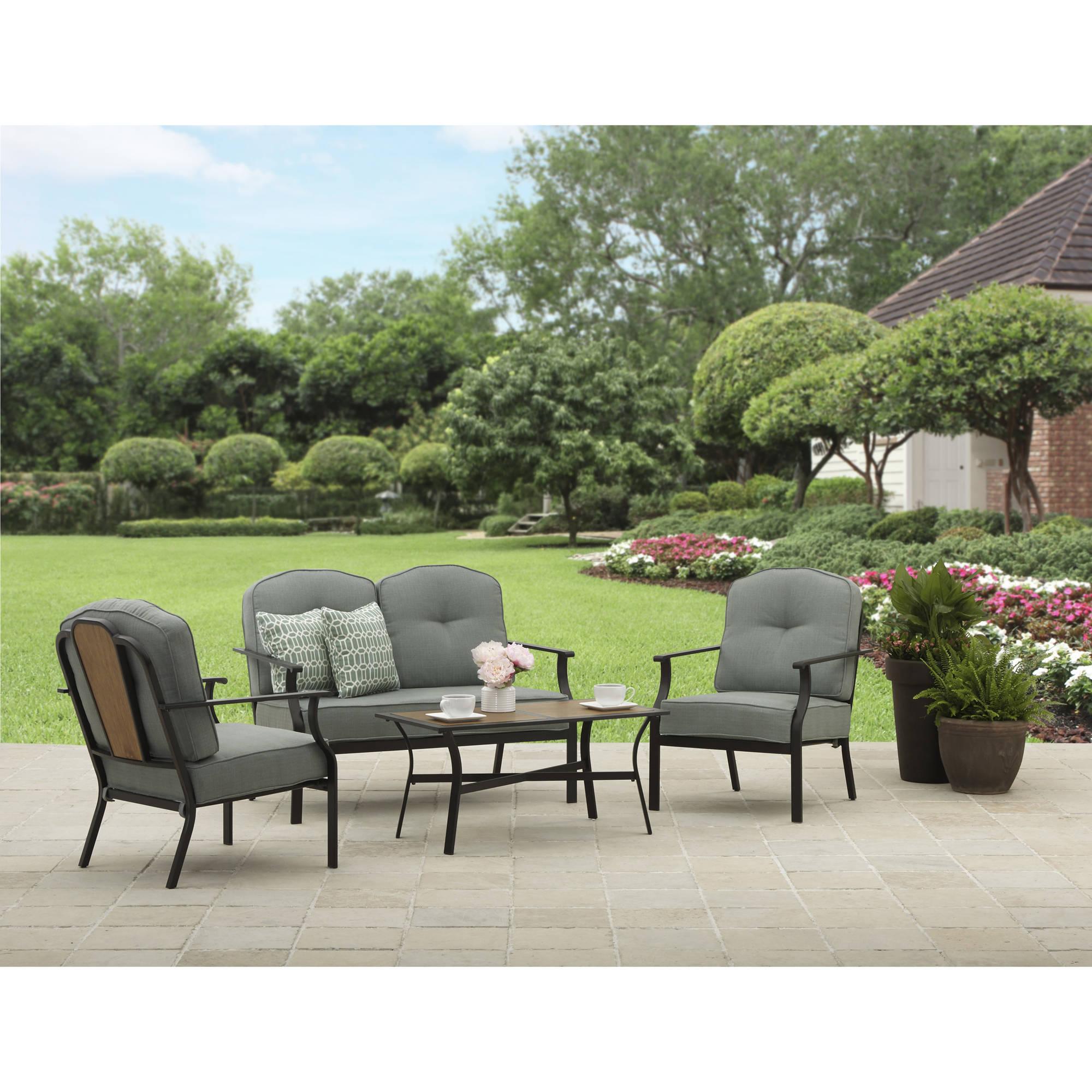 Better Homes and Gardens Rolling Oaks 4 Piece Conversation Set