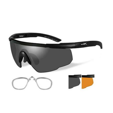 Wiley X Saber Advanced Sunglasses - Smoke Grey/Rust Lens - Matte Black Frame w/Rx (Wiley X Saber Advanced Sunglasses)