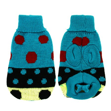 Unique Bargains Teal Textured Cuff Chihuaha Dog Sweater Cardigan Apparel Costume XXS - Unique Dog Costume