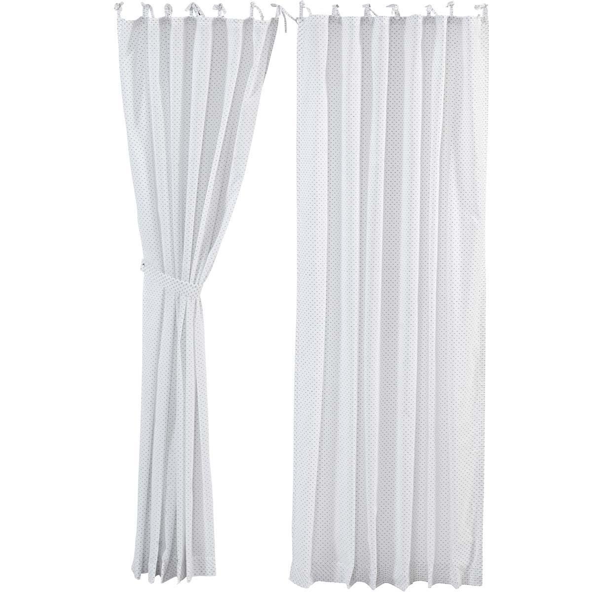 White Farmhouse Curtains Nora Tie Top Cotton Tie Back(s