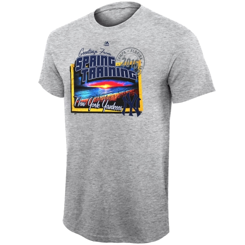 New York Yankees Majestic Spring Migration T-Shirt - Gray