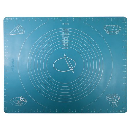 Better Kitchen Products, Extra Large Silicone Rolling Mat Pastry Mat with Measurements-Reusable & Non-stick, Light Blue