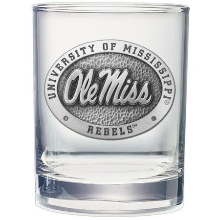 University of Mississippi Ole Miss Double Old Fashioned (Ole Miss Glassware)