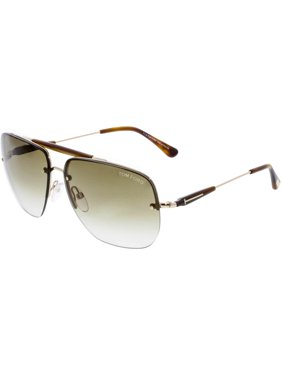 bdf6416710e96 Product Image Tom Ford Men s Gradient Nils FT0380-28F-61 Brown Rectangle  Sunglasses