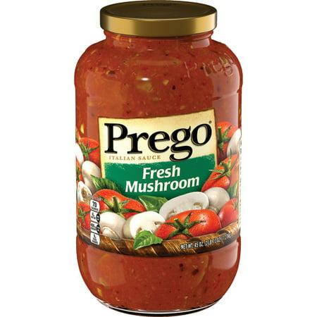 (2 Pack) Prego Fresh Mushroom Italian Sauce, 45 oz.