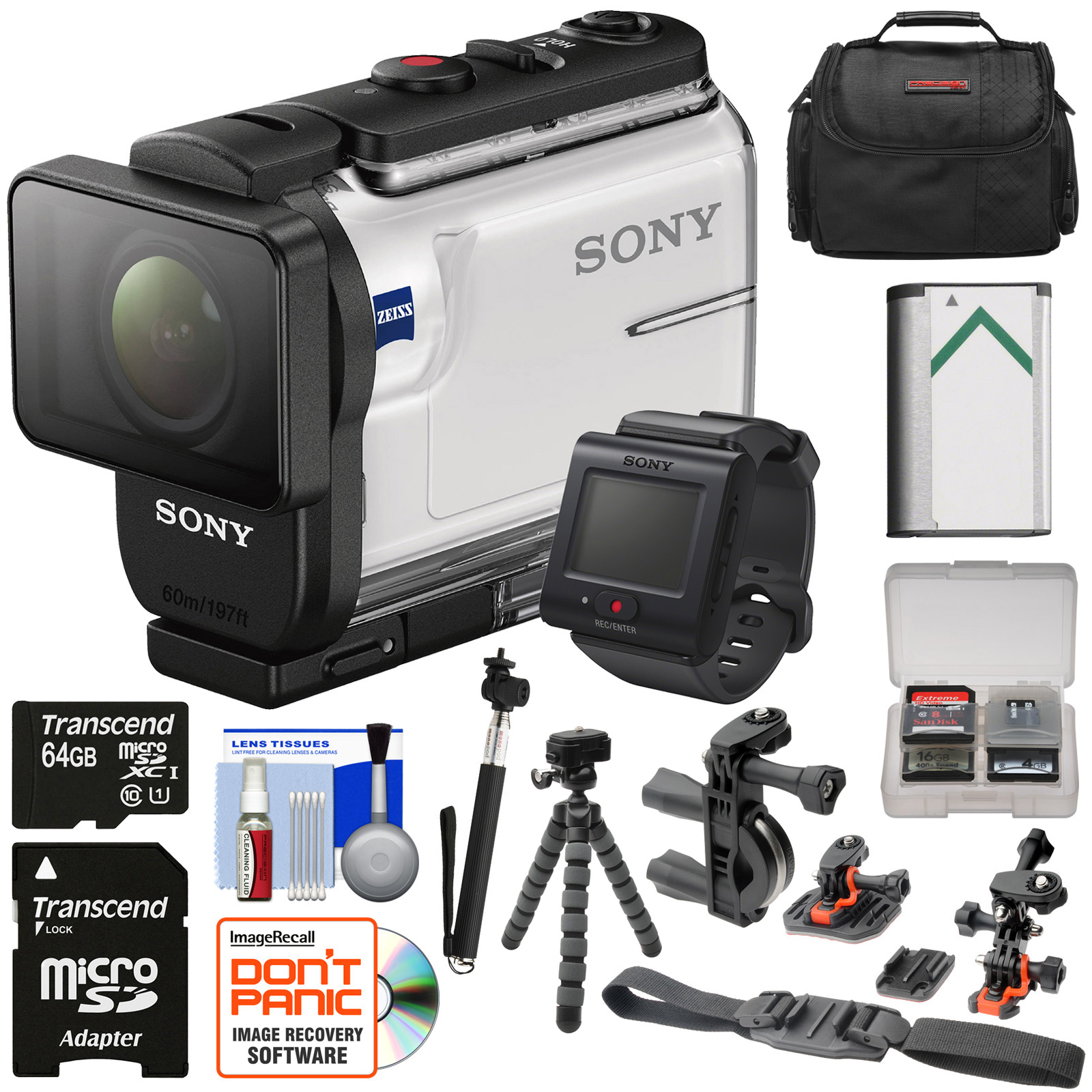 Sony Action Cam HDR-AS300R Wi-Fi HD Video Camera Camcorde...