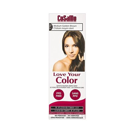 CoSaMo - Love Your Color Non-Permanent Hair Color 778 Medium Golden Brown - 3 oz. + Schick Slim Twin ST for Sensitive Skin](St Pattys Day Hair)