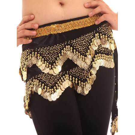 BellyLady Belly Dance Hip Scarf, Gold Coins Dance Wrap, Christmas Gift - Christmas Gift Wrapping Ideas
