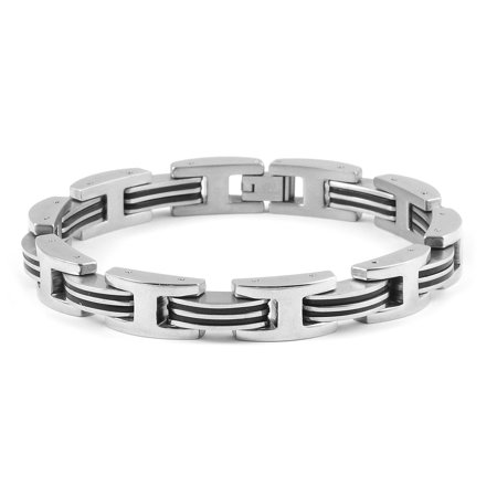 Bracelet Stainless Steel Dual Tone Plated Gift Jewelry for Mens Size 8.5""