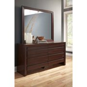 Domusindo Finger Pull Picture Frame Dresser in Chocolate Brown
