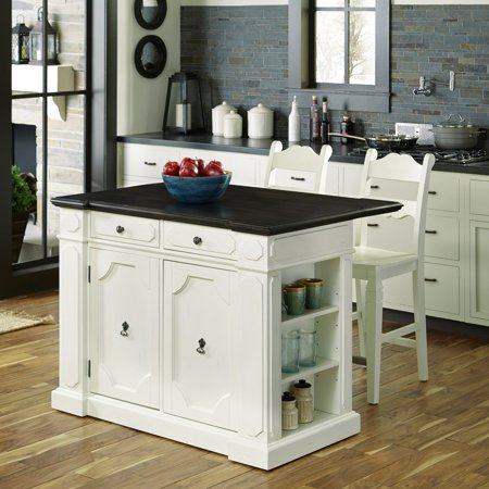 Superb Fiesta Wood Top Kitchen Island With 2 Stools Pabps2019 Chair Design Images Pabps2019Com