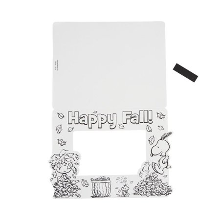 Peanuts® Color Your Own Fall Picture Frame Magnets - Owl Photo
