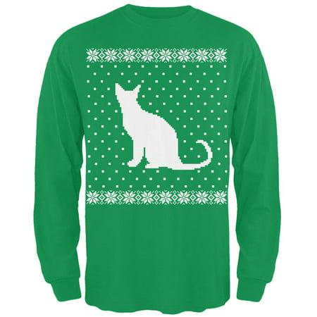 big cat ugly christmas sweater green long sleeve t shirt walmartcom