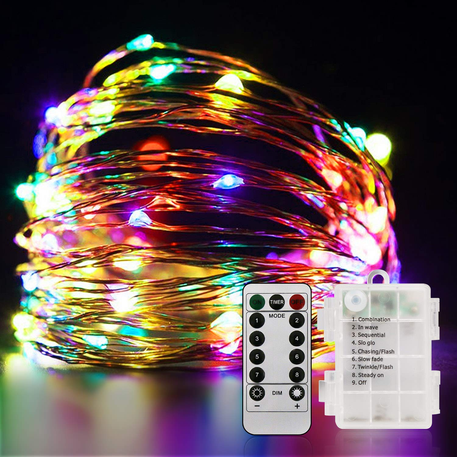 Outdoor String Lights 100led 33ft Battery Operated Led Rope Lights With Remote Indoor Timer Fairy Lights For Patio Easter Christmas Party Multi Color Walmart Canada