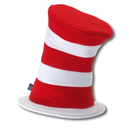 Dr Seuss Red Hat - Dr Seuss The Cat in the Hat - Deluxe Hat (Adult) - One-Size