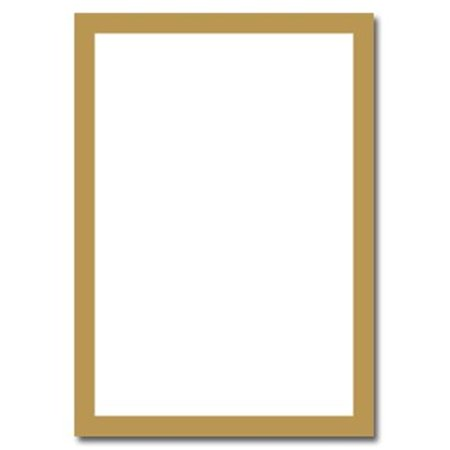 Masterpiece Studios 152679 Metallic Gold Border Flat Card Invitations And (Masterpiece Studios Blank Stock)