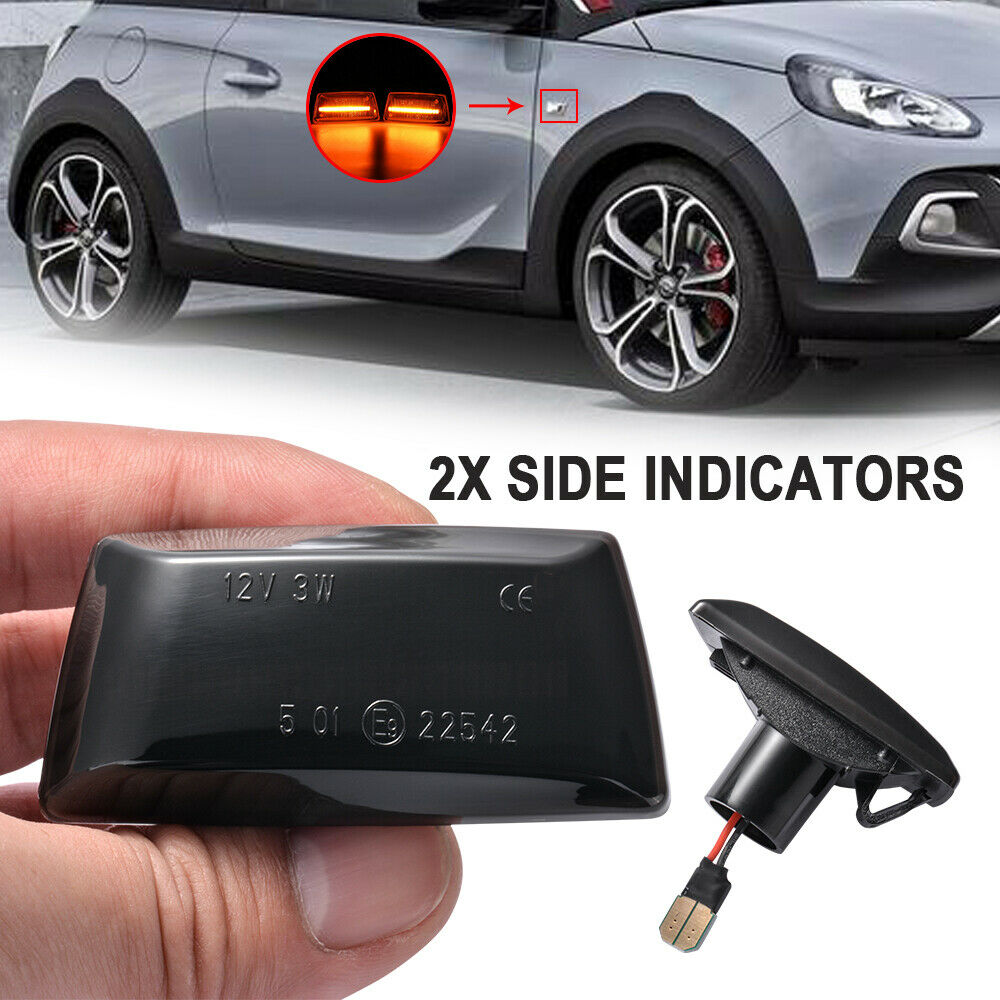 2x LED Side Indicator Repeater Light For Opel Astra H J ...