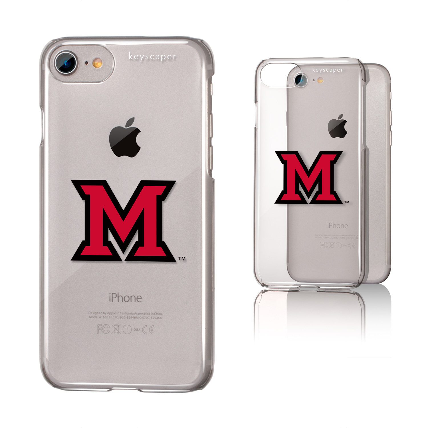 Miami (Ohio) Redhawks iPhone 7 Clear Case