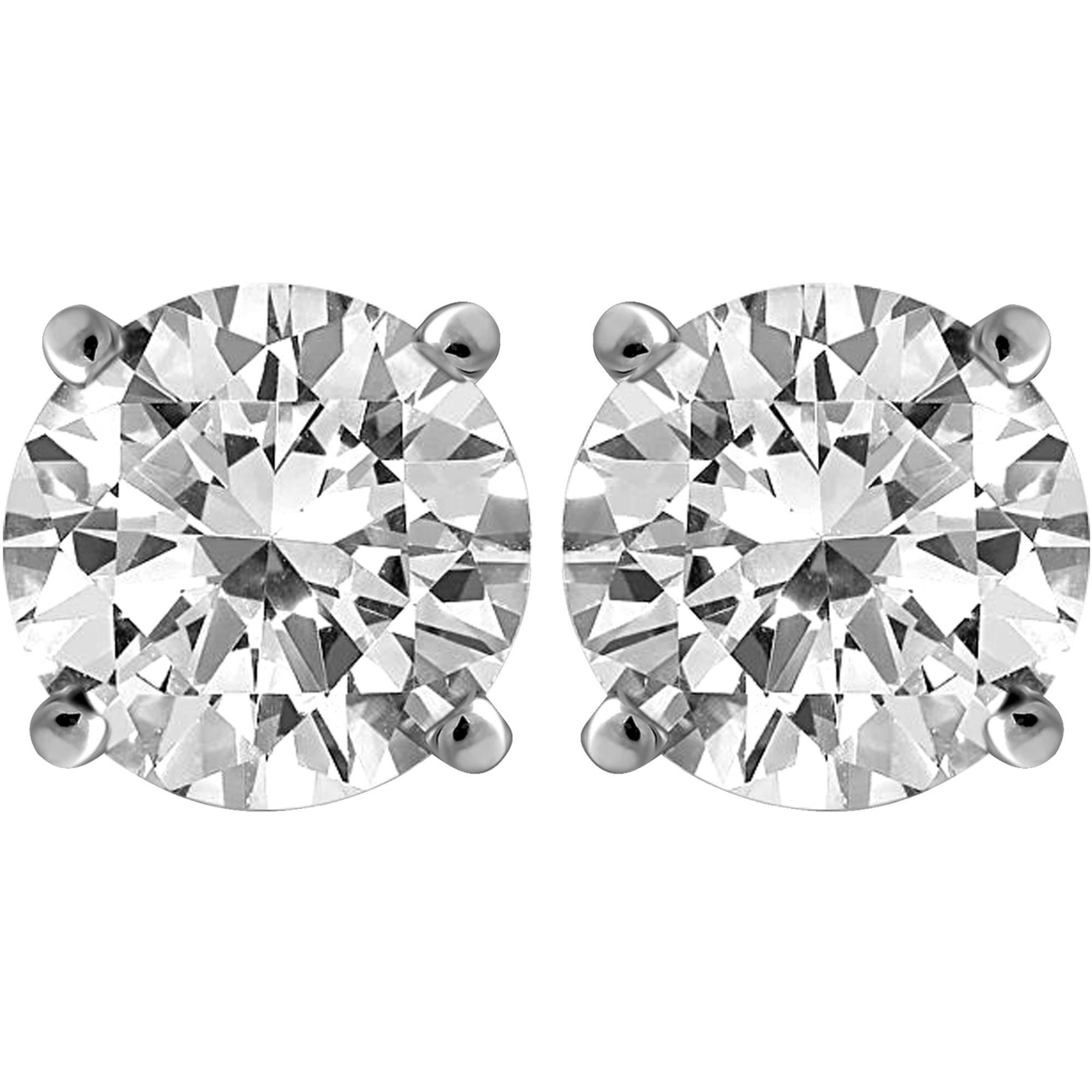 Carina 1 Carat T.W. Certified Round Diamond 14kt Gold Stud Earrings