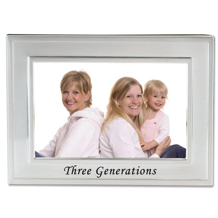 Sentiments Collection, Brushed Metal 4 by 6 Three Generations ...