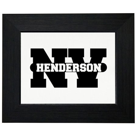 Party City Henderson Nevada (Henderson, Nevada NV Classic City State Sign Framed Print Poster Wall or Desk Mount)