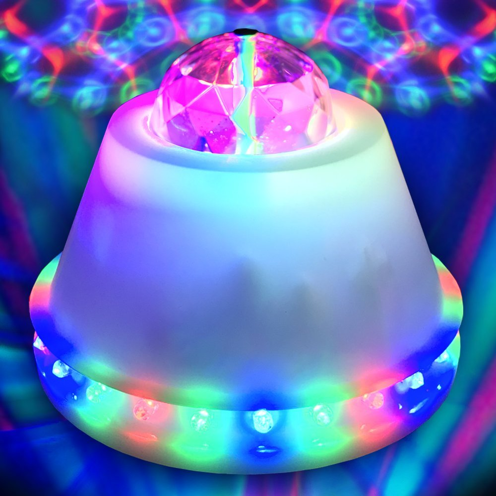LED Disco Flower Ball Party Light � Ships from USA � LED RGB Rotating Lamp Novelty Lighting by Adkins Pro Audio & Lighting