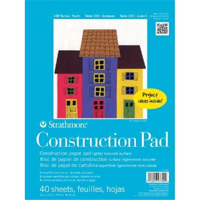 Strathmore ST27-309-1 9 inch x 12 inch Tape Bound Construction Paper Pad