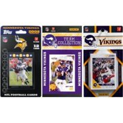 C & I Collectables VIKINGS311TS NFL Minnesota Vikings 3 Different Licensed Trading Card Team Sets