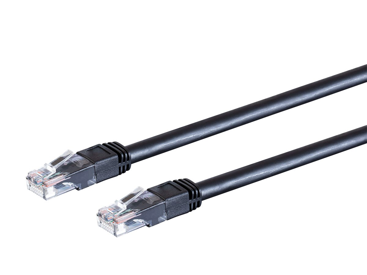 50 Feet UTP 550MHz Stranded Snagless RJ45 Monoprice Cat6 Outdoor Rated Ethernet Patch Cable Pure Bare Copper Wire Black 24AWG