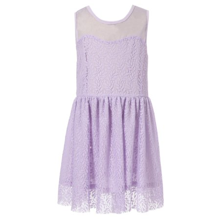 Richie House Girls' Dress With All Over Fancy Print RH1682 - Fancy Dresses For Girls
