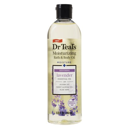 Dr Teal's Soothe & Sleep with Lavender Body and Bath Oil, 8.8 fl (Raw Body Oil)