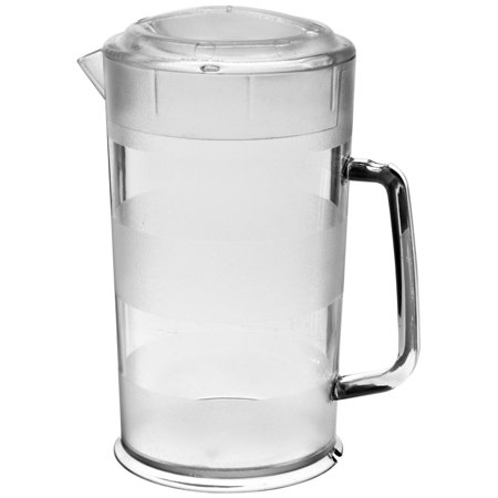 - 6 PACKS : Cambro PC64CW 64 oz Capacity, Camwear Clear Polycarbonate Covered Pitcher