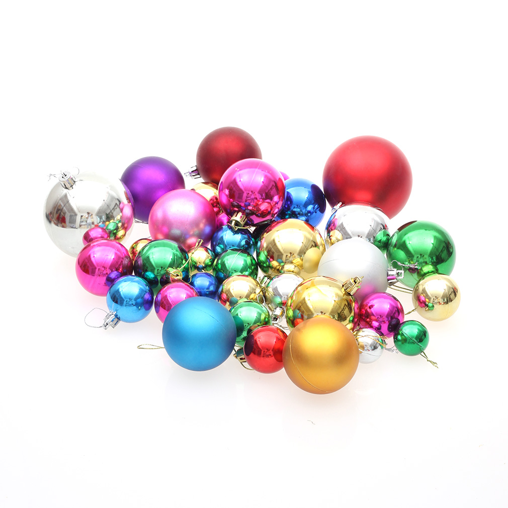 36pcs/set Christmas Tree Ball Hanging Type Home Ornament Wedding Decoration