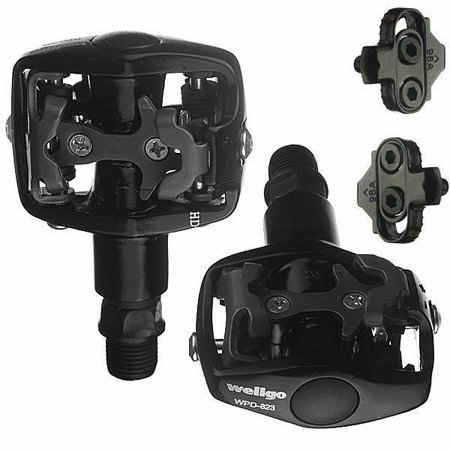 Wellgo Mountain Bike Clipless Pedals Shimano SPD With (Best Non Clipless Pedals)