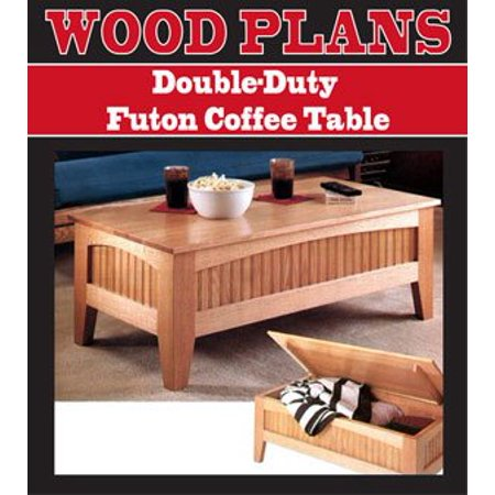 Double Duty Futon Coffee Table Woodworking Paper Plan Pw10070 By Peachtree