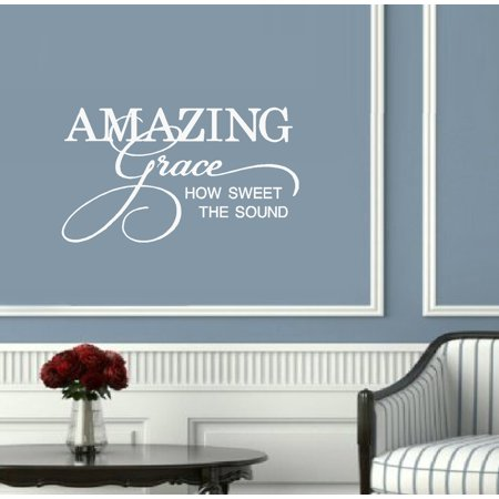 Decal ~ AMAZING Grace, How Sweet the Sound : Wall Decal 21
