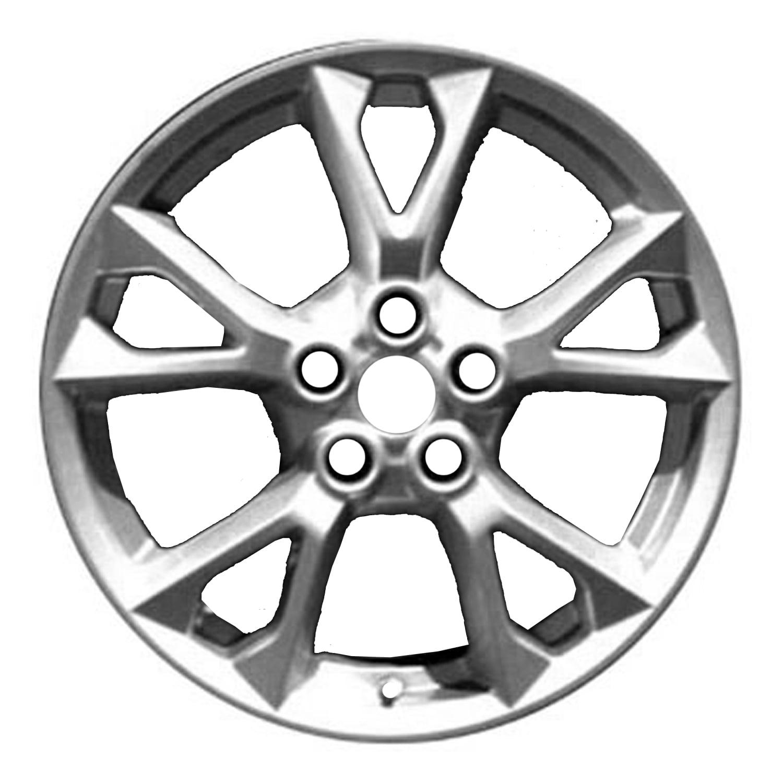 2012-2014 Nissan Maxima  18x8 Aluminum Alloy Wheel, Rim Sparkle Silver Full Face Painted - 62582